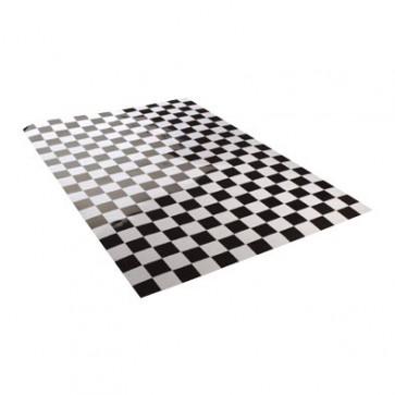 Klistermærke - Sticker DAMIER SORT/Hvid (20X24CM)