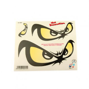 Klistermærke - Sticker OEIL NO FEAR (14X16CM)