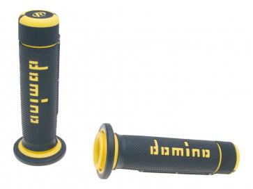 Håndtag Domino A180 ATV Tommelfinger-gas. 22/22mm sort-gul