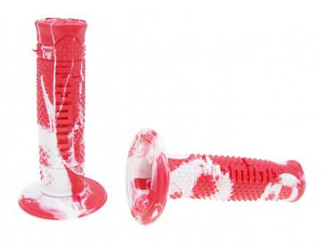 Håndtag Domino A260  snake rød / hvid