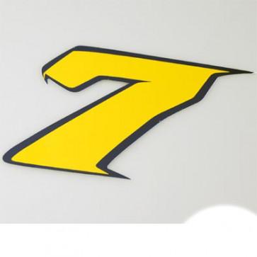 Klistermærke - Sticker Nummer 7 GulL 9