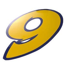 Klistermærke - Sticker Nummer 9 GulL 9