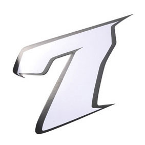 Klistermærke - Sticker Nummer 7 Hvid L13 CM