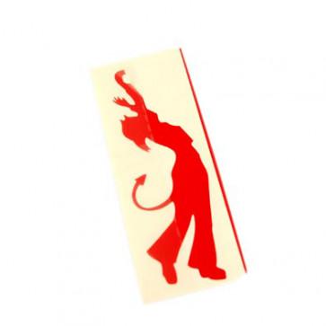Klistermærke - Sticker  rød (12CM)