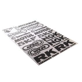 Klistermærke - Sticker  SPONSORS (NGK/SKF/AFAM/MOTUL/BREMBO (PLANCHE 35X25CM)