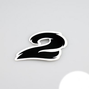 Klistermærke - Sticker Nummer 2 SORT L 5,5