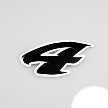 Klistermærke - Sticker Nummer 4 SORT L 5,5