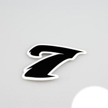 Klistermærke - Sticker Nummer 7 SORT L 5,5