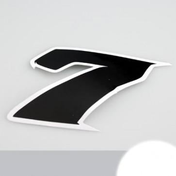 Klistermærke - Sticker Nummer 7 SORT L 9