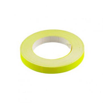 Klistermærke - Sticker Bånd Neongul 9MM (10M) POUR