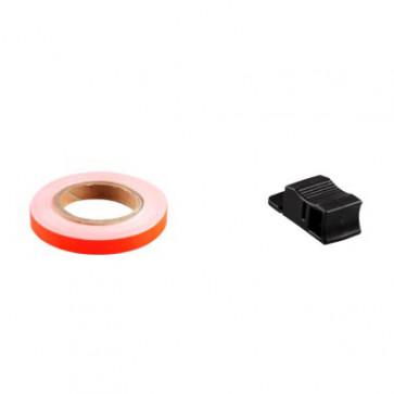Klistermærke - Sticker Bånd TUN'R ORANGE Neon7MM (6M)