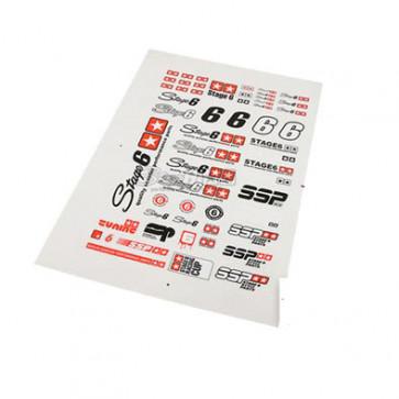 Klistermærke - Sticker  STAGE6 (PLANCHE A4 - 21X29.7CM)