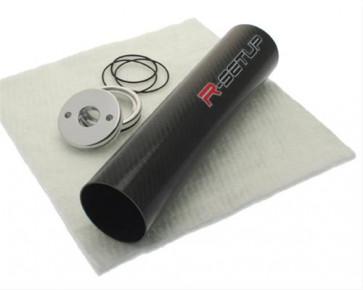 R-Setup carbonrør til lyddæmper - Carbon