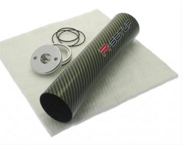 R-Setup carbonrør til lyddæmper - Grøn