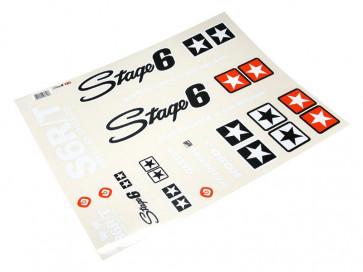 Stickersæt - Stage6 MKII A2 - Hvid