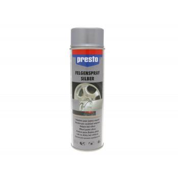 Hjulspray Presto sølv 500 ml