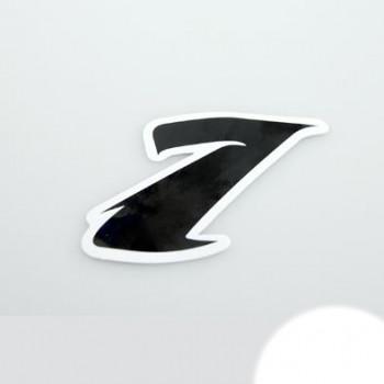 Klistermærke - Sticker Nummer 1 SORT L 5,5
