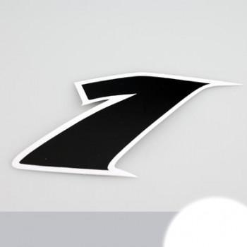 Klistermærke - Sticker Nummer 1 SORT L 9CM