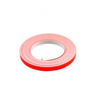 Klistermærke - Sticker Bånd Neonrød 6MM (10M) POUR