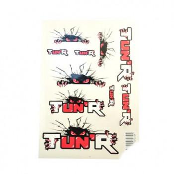 Klistermærke - Sticker  TUN'R (PLANCHE A4 - 21X29.7CM)