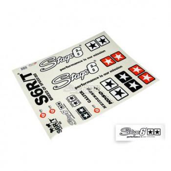 Klistermærke - Sticker  STAGE6 MKII SORT (PLANCHE A2 - 42X59CM)
