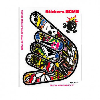 Klistermærke - Sticker Bomb (10X12CM)