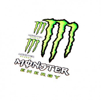 Klistermærke - Sticker  MONSTER ENERGY (PLANCHE 50X35CM)