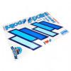Klistermærke - Sticker  POLINI TEAM SCOOTER 1 PLANCHE GAUCHE + 1 PLANCHE DROITE (50X35CM)
